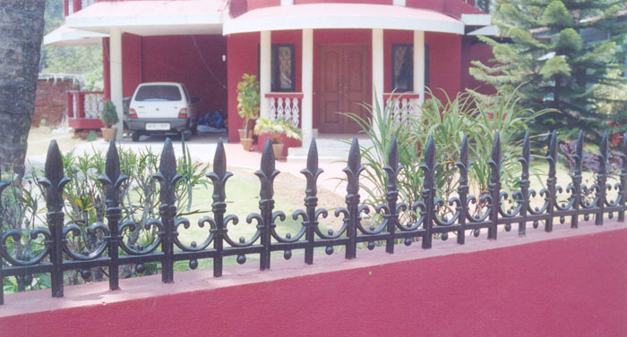 Wall Compound Grill Design : Compound wall railing cast iron for