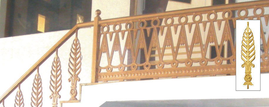 Compound Wall Railing, Cast Iron Railing for Compound Wall ...